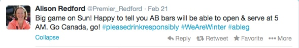 Redford Tweet