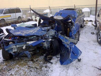 Car crash remains
