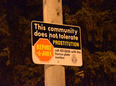 Prostitution sign