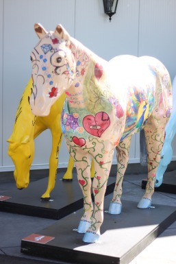 Fibreglass horse Spruce Meadows