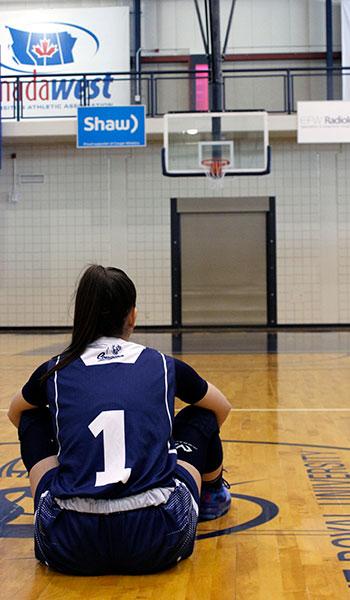 Maria on court