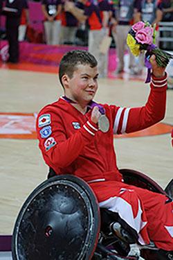 Zak Madell silver medal