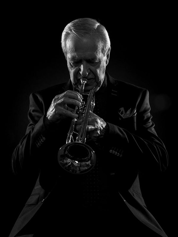 Al Muirhead is a close friend and mentor of Ukoloff. They first met in Banff, Alberta. He is also a full-time musician in Calgary and has been a trumpet player for the past 75 years. Photo courtesy of Al Muirhead.