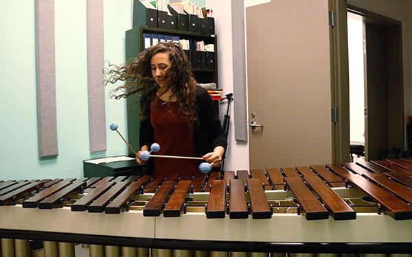 Playing Marimba intro