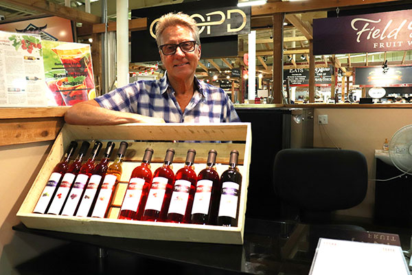 Lyndon Gill mentions his favourite fruit wine is currently bumbleberry, but changes with every new batch. Photo by Casey Richardson.