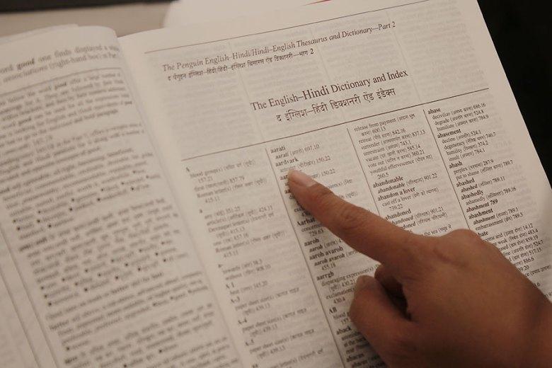 English-Hindi Dictionary and Index