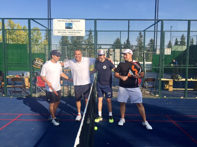 Calgary Padel Players ready to play the Semi-final of the Open section