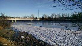 Shouldice Bridge through the winter