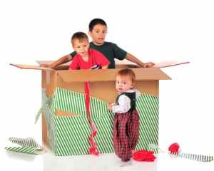 Cardboard box Christmas