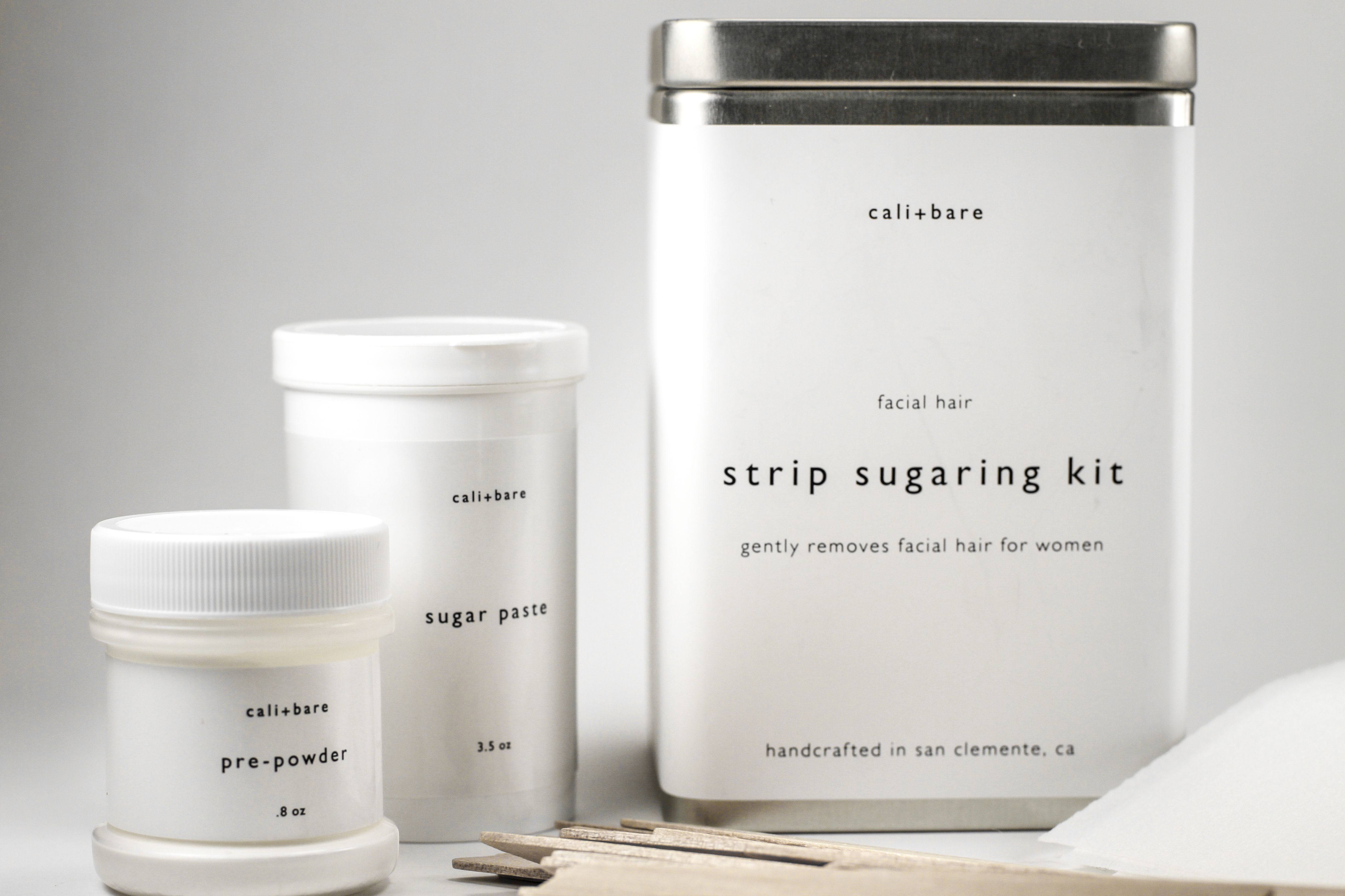 Hair removal sugaring kit with sugar paste and pre powder