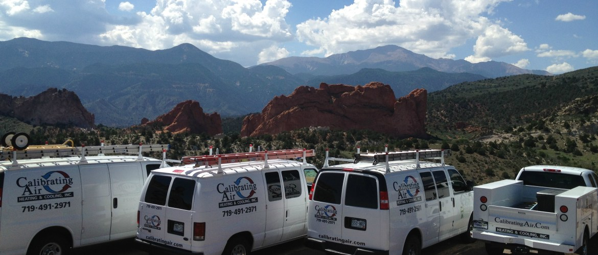 Calibrating Air vans at Garden of the Gods