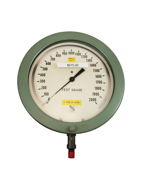 Used Ashcroft 2000 PSI Test Gauge Front