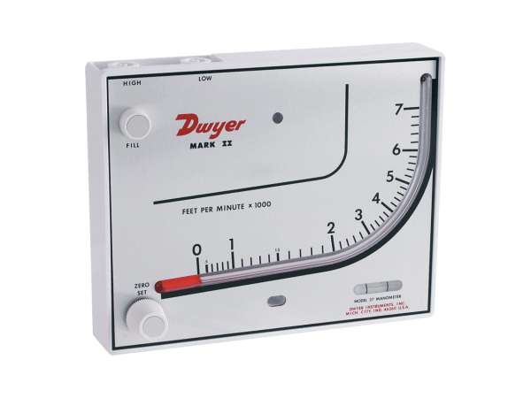 Used Dwyer Model 27 Mk II Manometer