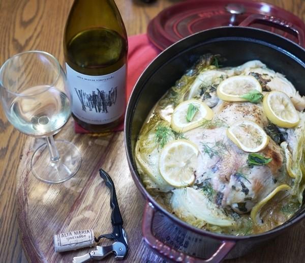 Cooking with Wine: Roast Chardonnay Chicken Recipe
