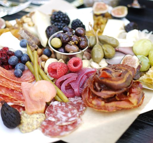 Succulent Cafe Charcuterie & Cheese Plate