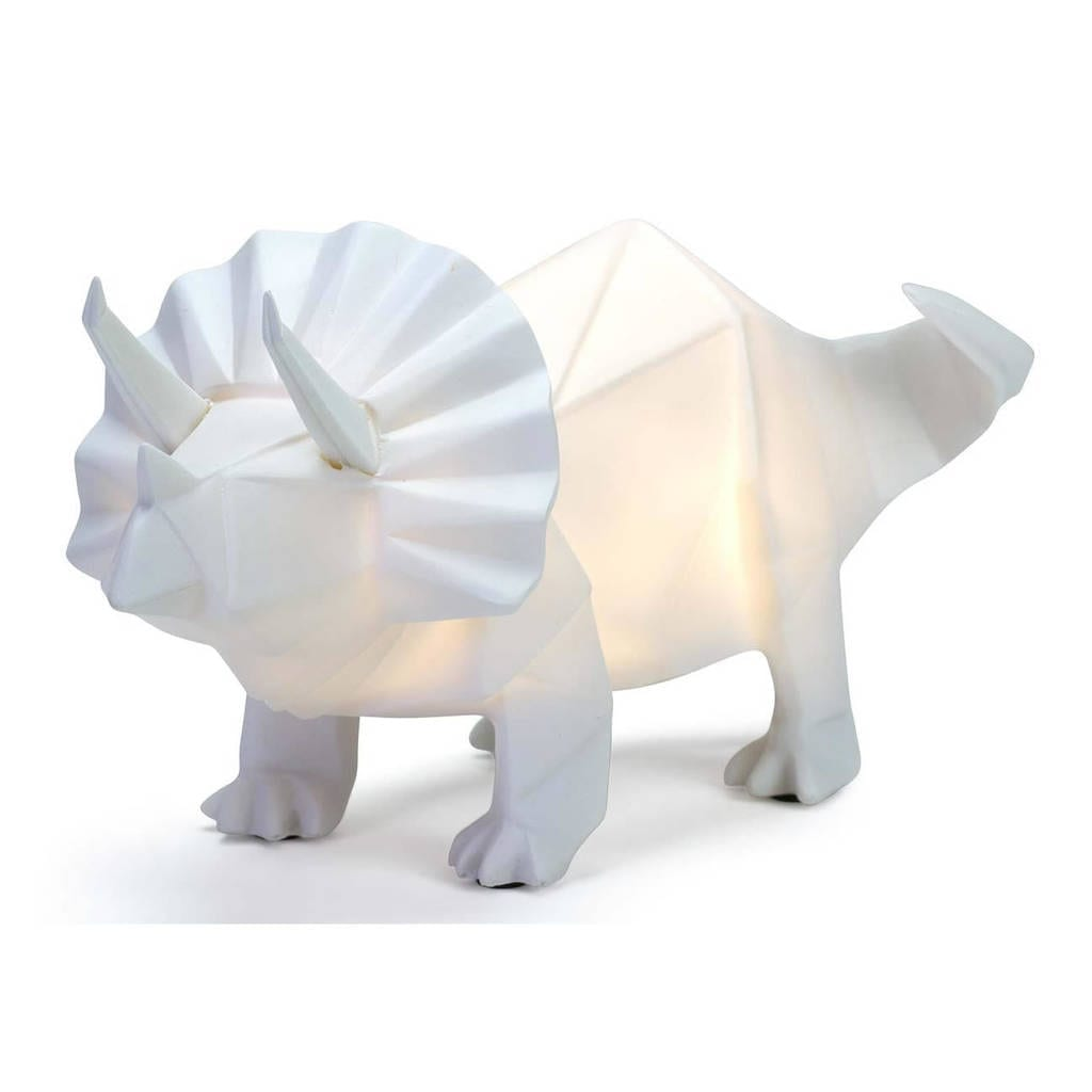 Attractive Toby Triceratops The Origami Style Dinosaur Lamp