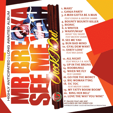 See Me Yah by Mr Breaka Track Listing (image back)