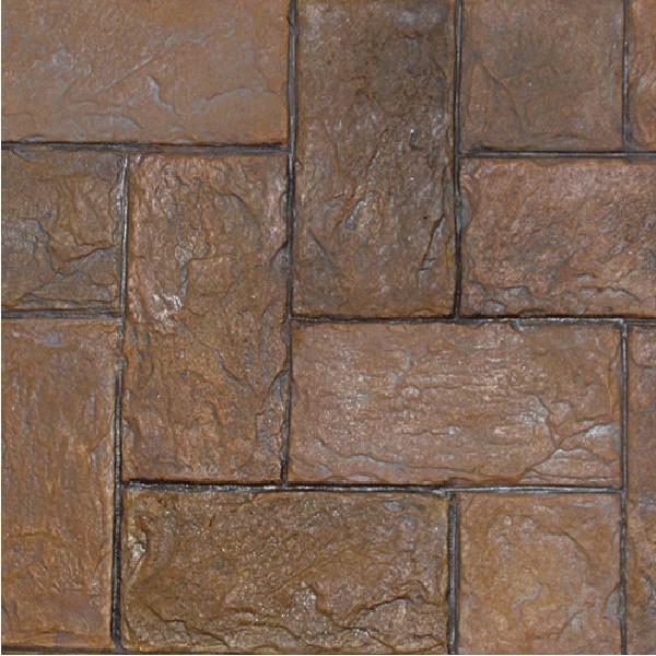 herringbone belgium slate 8 x 16 inch tile concrete stamp