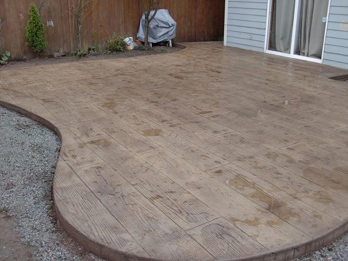 concrete patios vs wood decks calico