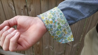 Cuff Contrast Fabric