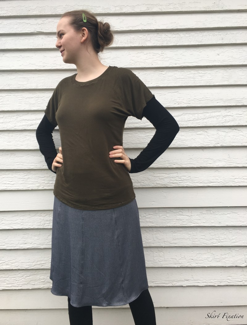 Denim knit fabric 1