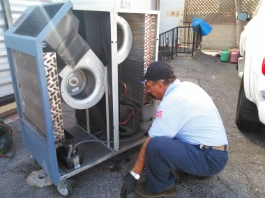 Portable air conditioning repairs