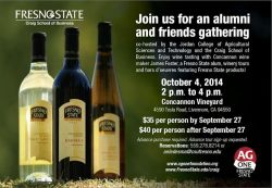Fresno State Alumni and Friends to Gather at Concannon Vineyard for Collaborative Event Oct. 4