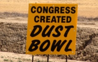 congress-created-dust-bowl Billboard on CA SR 99