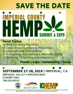 Imperial County Hemp Summit & Expo to be Held September 2019