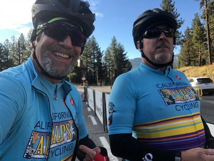 Rocking the CAC kits at the start of the Mammoth Gran Fondo