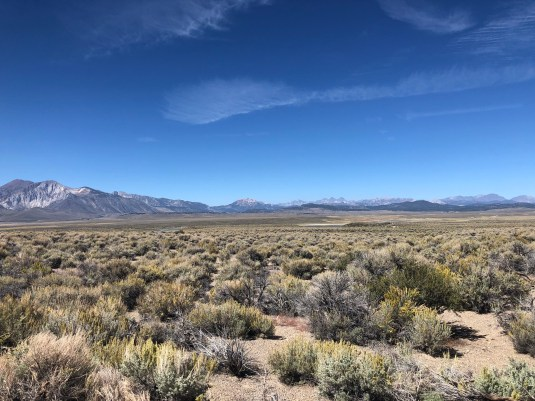 Looking towards Mammoth from near Lake Crowley - during the 2018 Mammoth Gran Fondo