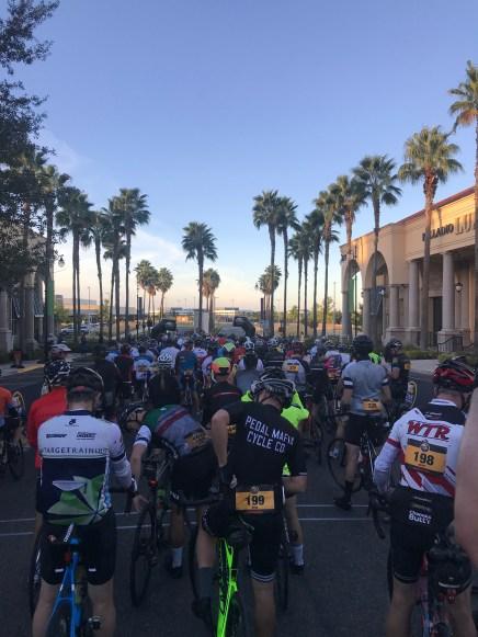 The start line a the 2018 t L'Etape California.