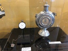 Original TDF Stopwatch (1903 - 1914) and Hugo Koblet's 1951 TDF Champion Trophy