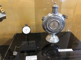 Original TDF Stopwatch (1903 - 1914) and Hugo Koblet's 1951 TDF Champion Trophy