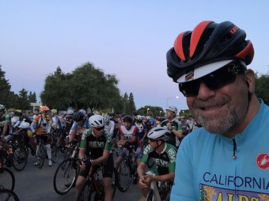 At the start of the Tollhouse Century (part of the Climb to Kaiser)