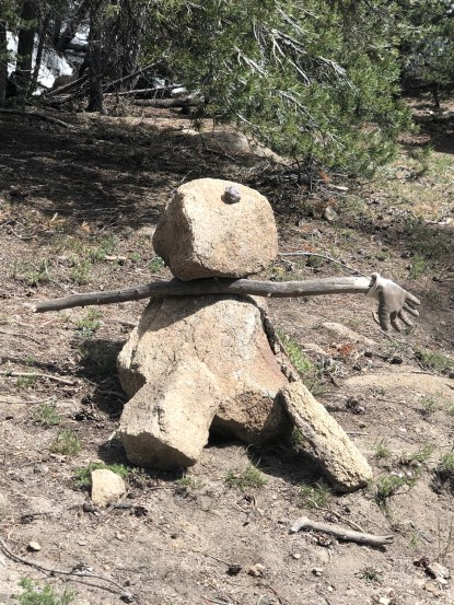 Stick/rock person at Ebbett's Pass
