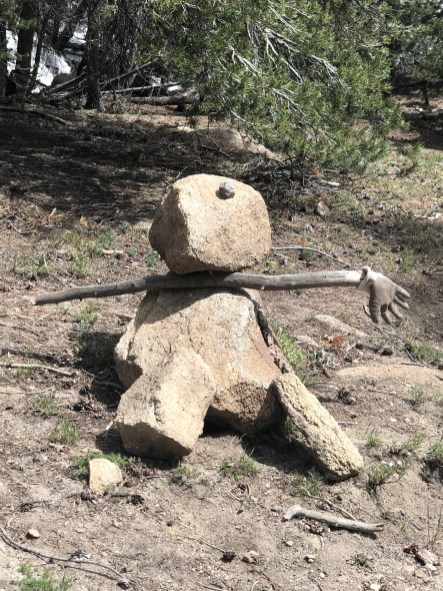 Stick/rock person at Ebbett's Pass