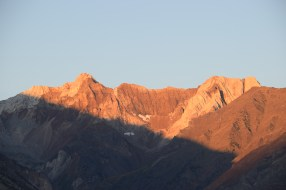 Sunshine hitting the Eastern Sierra - from Hwy 395