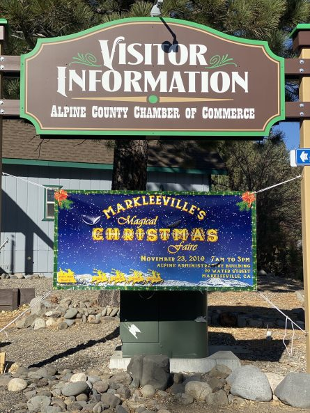 Magical Markleeville Christmas Faire Banner