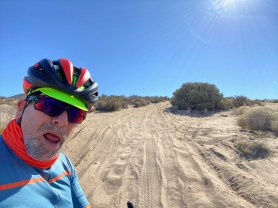 What the what? This sand is tough to ride in/on. Makes me sweat.