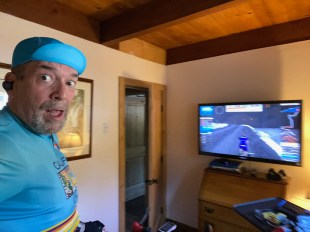 How much further? Riding Alpe Du Zwift