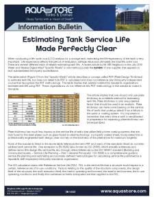 Information Bulletin - Tank Service Life