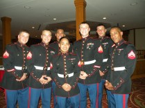 US Marines enjoy a California Cabaret USO Event
