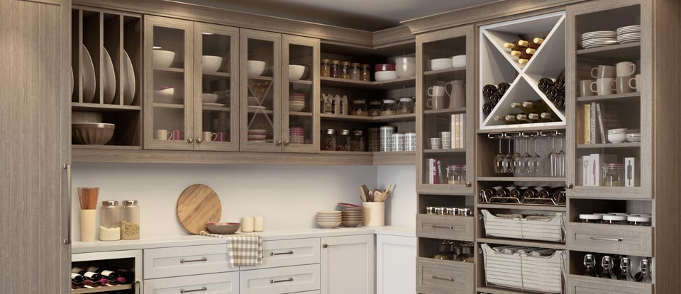 Kitchen Pantry Cabinets & Organization Ideas