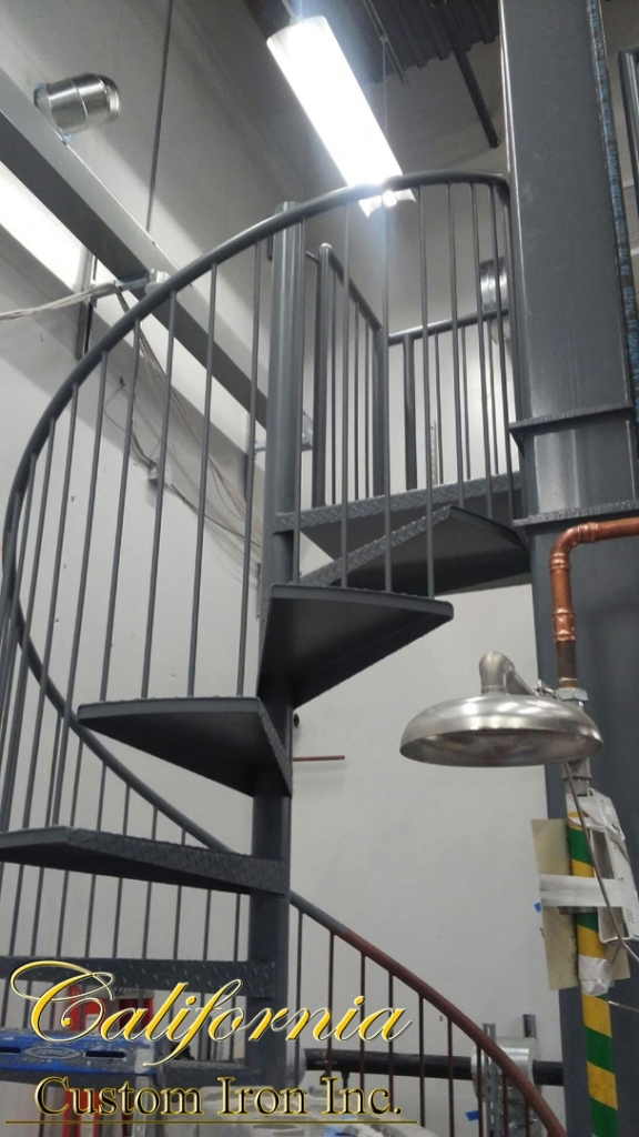 California Custom Iron Iron Railing Spiral Stairs Iron Gates | Custom Iron Stair Railing | Indoor | Steel | Metal | Curved | Ornamental