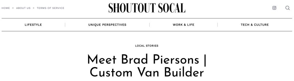van builder shoutout interview