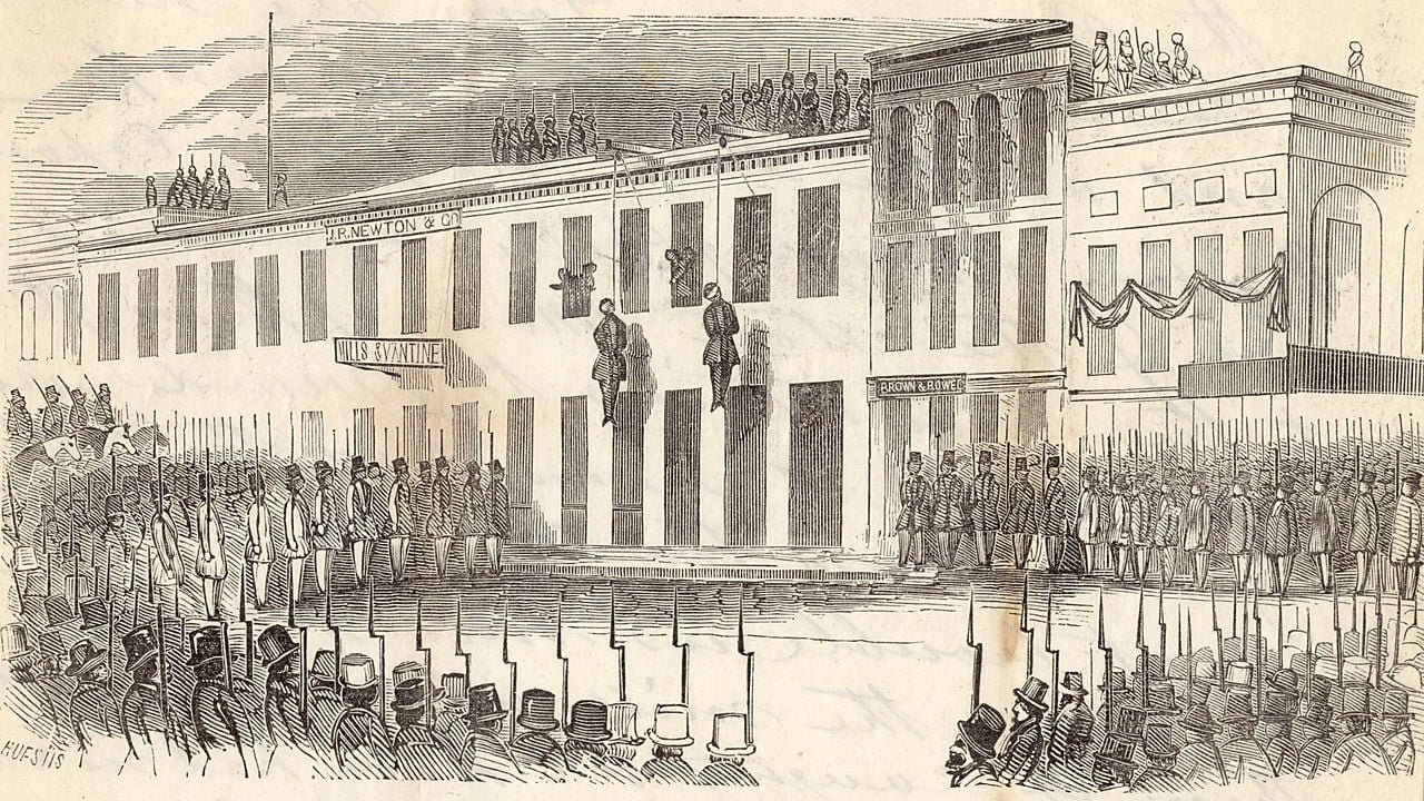 Execution of James P. Casey and Charles Cora by the Vigilance Committee, of San Francisco, California