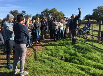 Fellows learn about sustainable farming practices at Soil Born Farms
