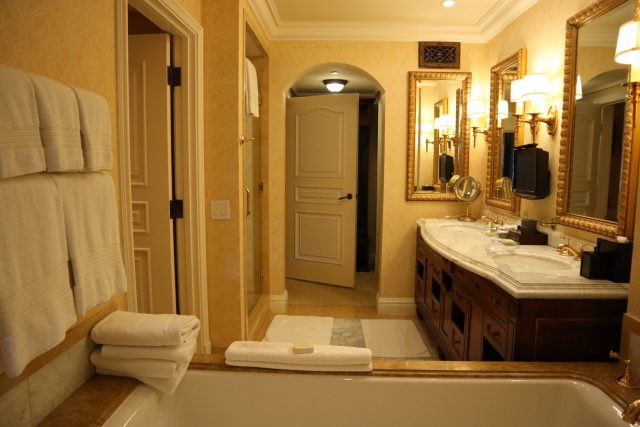 Fairmont Grand Del Mar golf resort and spa San Diego guest room marble bathroom