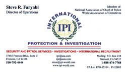 International Protection and Investigation -Security and Patrol Services